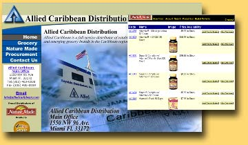 alliedcaribbean.com e commerce site under $1000