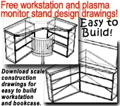 Free  blueprint drawings furniture workstation desk entertainment center monitor stand