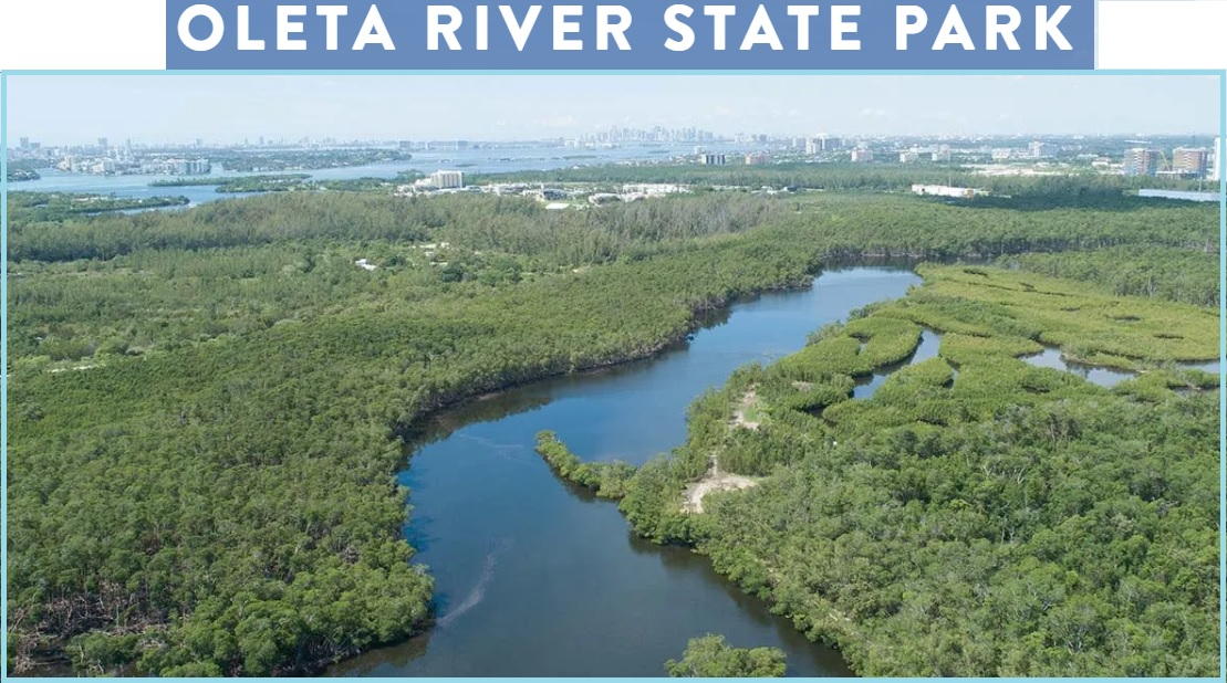 Miami Things To Do, Oleta Park kayak, canoe, paddleboard, mountain bike cabin campground rentals