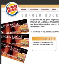 Buger King Burger Bucks